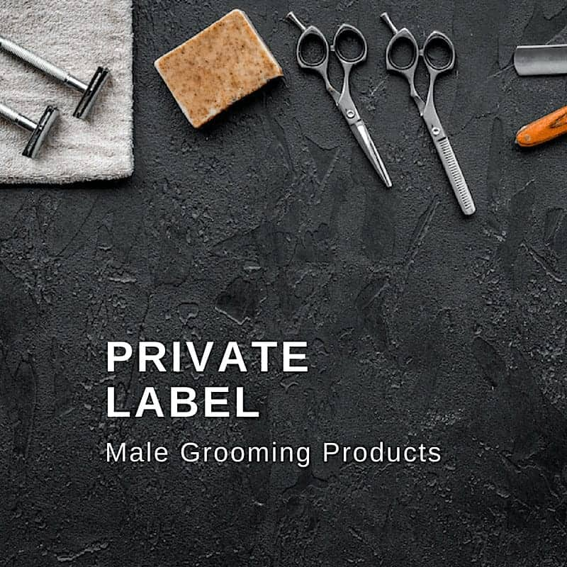 private label male grooming products